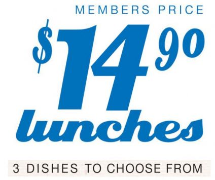 3. $12.90 Lunches